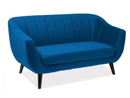 Modrá 2 místná pohovka ELITE 2 VELVET