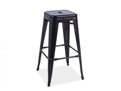 Černá barová židle HOKER LONG