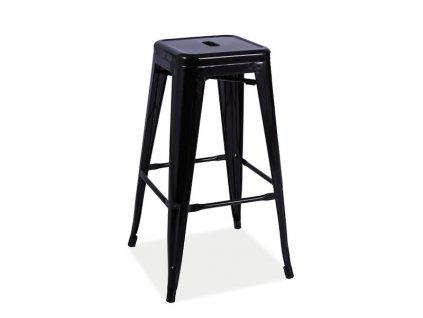 Barová stolička, černá / mat, HOKER LONG