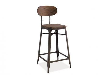 Barová stolička, tmavý ořech / grafit, HOKER LOPE