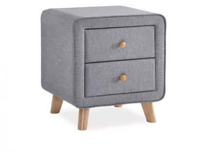 Noční stolek, šedá, MALMO