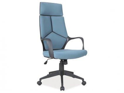 Kancelářská židle, modrá / černá, Q-199