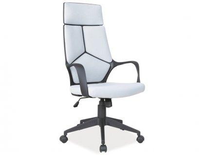 Kancelářská židle, šedá / černá, Q-199