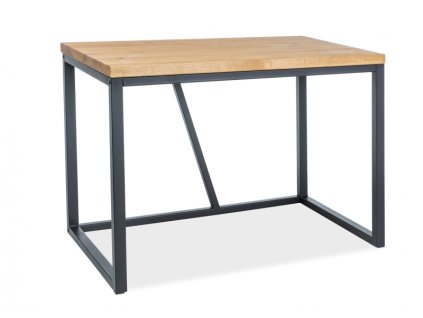 Psací stůl, dub / černá, SILVIO 110X60X75