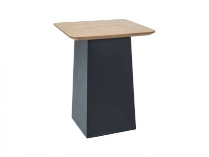 Příruční stolek, dub / černá, TOM