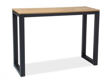 Konzolový stolek, černý / dub, UMBERTO K