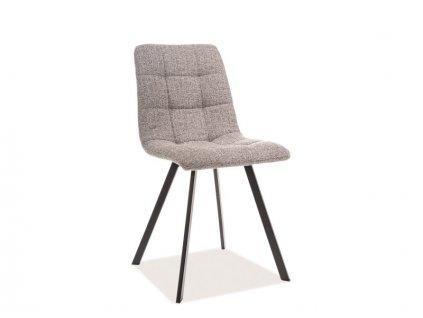 Židle, šedá / černá, CLIP