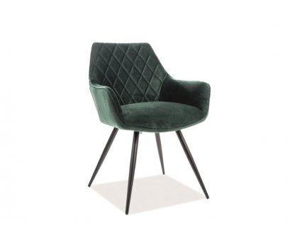 Zelená židle LINEA VELVET