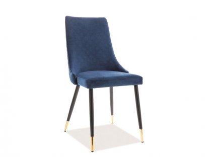Tmavě modrá židle PIANO VELVET