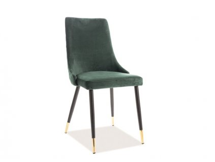 Zelená židle PIANO VELVET