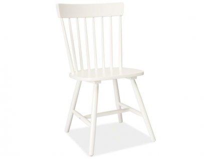 Bílá dřevěná židle ALERO
