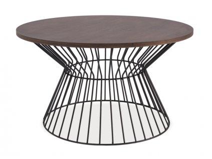 Konferenční stolek, ořech / černá, ALTA