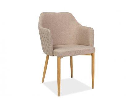 Jídelní židle, béžová / dub, ASTOR