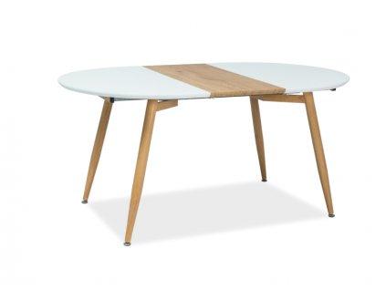 Bílý jídelní stůl AVON 120(200)X100, rozkládací