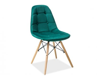 Jídelní židle, zelený samet / buk, AXEL III