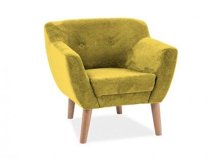 Žluté relaxační křeslo BERGEN 1