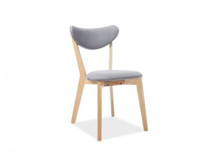 Šedá dřevěná židle BRANDO