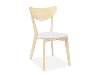 Dřevěná židle, bílá, CD-19