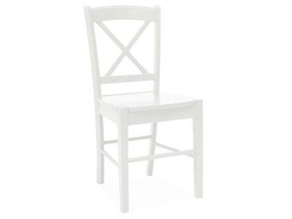 Bílá dřevěná židle CD-56