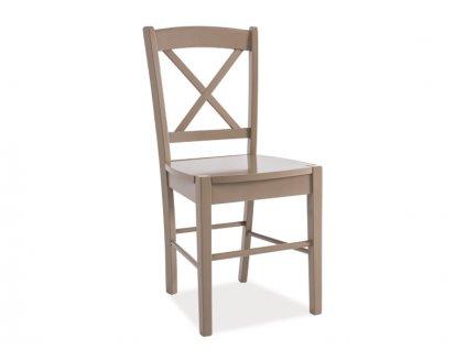 Dřevěná židle, lanýžově hnědá, CD-56