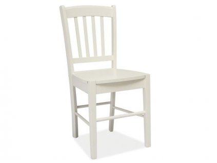 Bílá dřevěná židle CD-57
