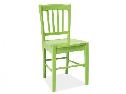 Dřevěná židle, zelená, CD-57