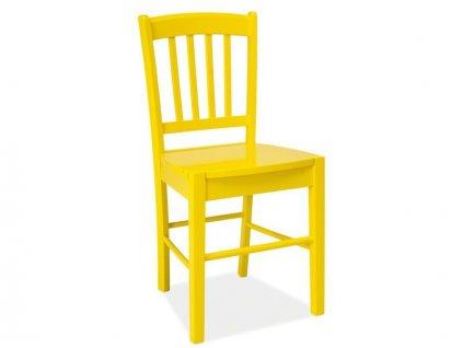 Žlutá dřevěná židle CD-57