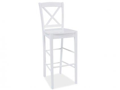 Barová stolička, bílá, CD-964
