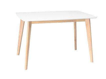 Jídelní stůl, bílá / dub, COMBO 120X75