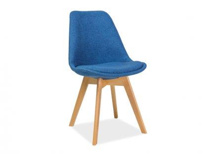 Židle, modrá / buk, DIOR