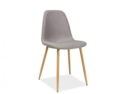 Židle, šedá / dub, DUAL