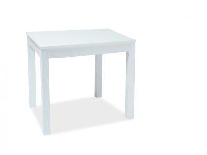 Jídelní stůl, bílá, ELDO 80(160)x80