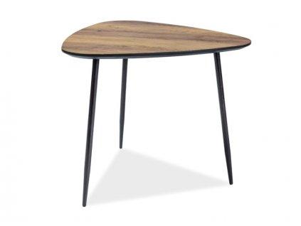Příruční stolek, ořech / černá, ENVO B