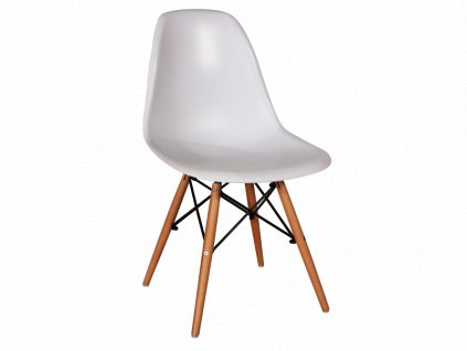 Židle, bílá / buk, ENZO