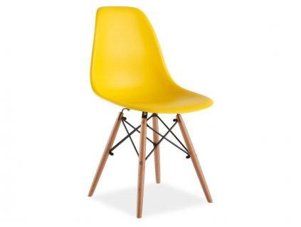 Židle, žlutá / buk, ENZO