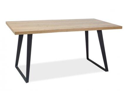 Jídelní stůl, přírodní dub / černá, FALCON 150x90