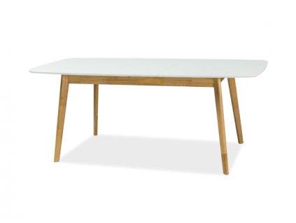 Jídelní stůl, bílá / dub, FELICIO II 150(190)X90