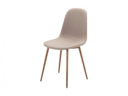 Židle, béžová / dub, FOX