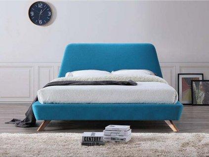 Dvoulůžková postel, tyrkysová, GANT 160X200