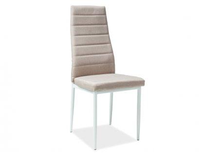 Židle, béžová / bílá, H266