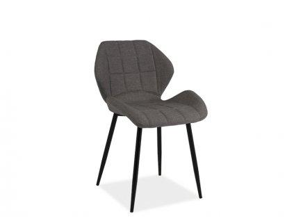 Šedá židle HALS