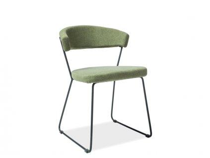 Moderní židle, zelená / černá, HELIX