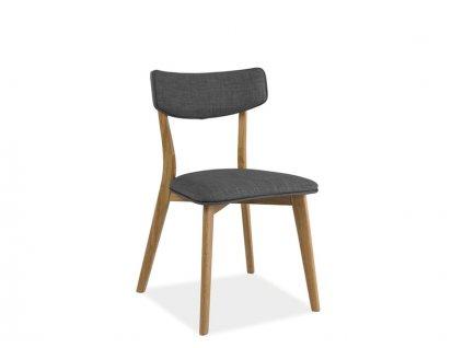 Židle, šedá / dub, KARL