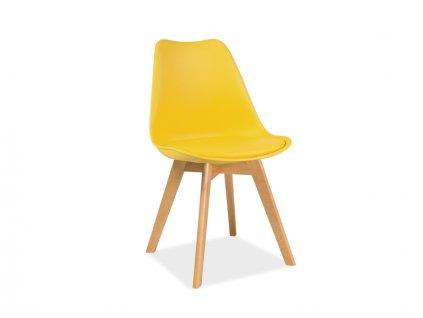Židle, žlutá / buk, KRIS