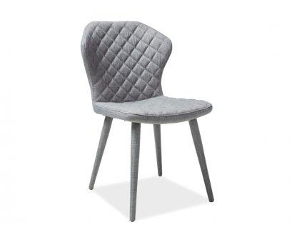 Šedá židle LOGAN