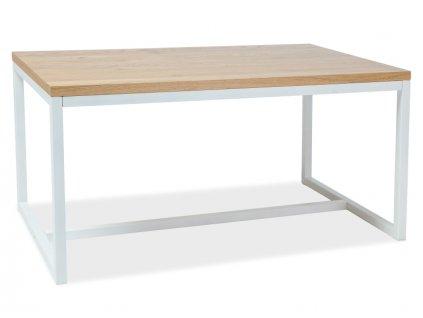 Jídelní stůl, přírodní dub / bílá, LORAS A 120x80
