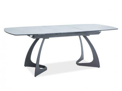 Jídelní stůl, šedá / černá, MARTINEZ 160(210)x90