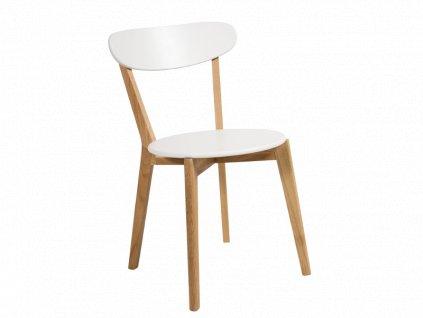 Bílá dřevěná židle MILAN