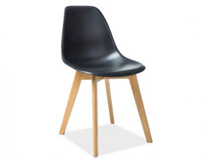 Židle, černá / buk, MORIS