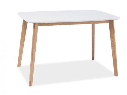 Bílý jídelní stůl MOSSO I 120X75